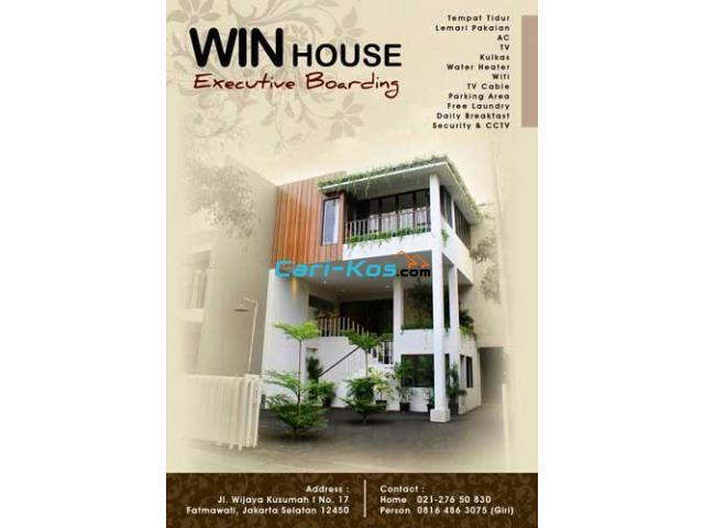 Tempat Kost di Daerah Fatmawati Jakarta Selatan - Win House Executive Room Rental