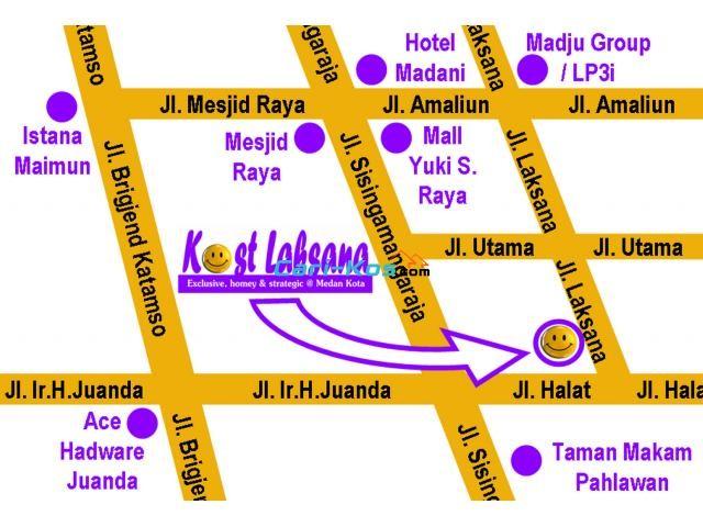 KOST LAKSANA. Kost Eksklusif Karyawan Karyawati, Strategis di Medan