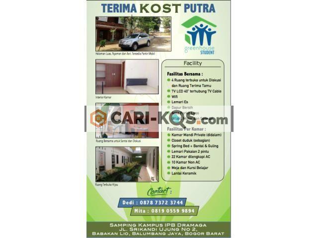 Rumah Kost Pria samping IPB Bogor